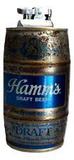 Hamm's Draft Beer Keg Cigarette Lighter Advertising Barware Man Cave Vintage