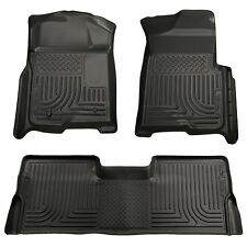 Husky Liners WeatherBeater Floor Mats-3pc- 98381- Ford F250 Crew Cab 08-10-Black