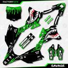 Green Savage Camo Racing Graphics Kit fits 14-21 Kawasaki KX85 Kx 85 Decal