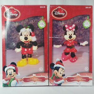 Disney Lighted Iridescent Mickey and Minnie Mouse 20in. Indoor and Outdoor Use