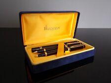 Parure 3 stylos WATERMAN IDEAL LE MAN 100 plume roller porte mines RARE 1986