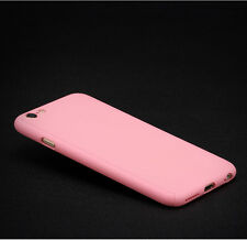 360° Full Body Cover Hard Ultra thin + Tempered Glass Case For iPhone 5 6 7 Plus