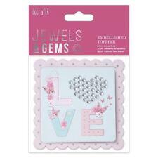 DO-crafts Impreziosito Topper-LOVE-Jewels & Gems Per Schede & Craft
