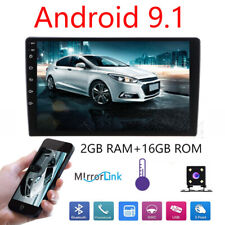 Double 2Din 10.1inch Android 9.1 Quad Core Car Radio In Dash Stereo GPS OBDII