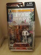 Star Wars Comic Packs #3 CHEWBACCA & HAN SOLO Hasbro Dark Horse, NIB.