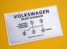 VW Stile Vintage GEAR SHIFT Dash Adesivo Decalcomania Volkswagen Beetle Karmann Ghia