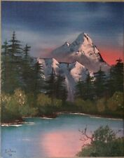 bob ross style painting 16 X 20 Signed By Painter