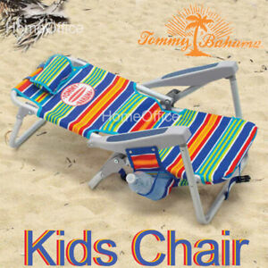 Child Tommy Bahama Kids Beach Chair Deckchair Lounger  Adjustable  5 Position
