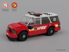 Instructions & Stickers to build a custom Lego Battalion Chief SUV - NO BRICKS
