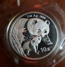 2004 China Silver Panda in Original Packaging - 10 Yuan 1oz