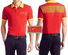 NWT Hugo Boss Green Label by Hugo Boss LOGO Country Flag Piqué Polo Shirt