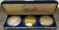 Genuine Set of (3) 1991 Marshall Islands Desert Storm 50, 10, & 5 in Mint Box