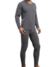 Mens Winter Ultra-Soft Fleece Thermal Long John Underwear Set Dark Gray 2XL