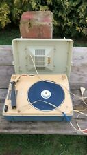 Vintage Philips French Portable 4 Speed Record Player In Carry Case *