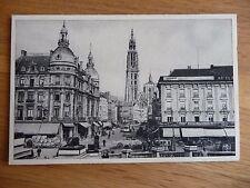 Antique B&W postcard of Antwerp (Suikerrui - Canal de Sucre)