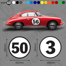 Roundel Race Number 1 x 350mm Vinyl Decal / Sticker Classic Heritage 3226-0219