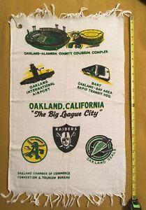 70's Oakland Promo Towel Vtg BART A's Pennant Champs Athletics Raiders Seals NHL