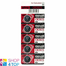 5 MAXELL CR2025 LITHIUM BATTERIES 3V COIN CELL DL2025 EXP 2022 NEW