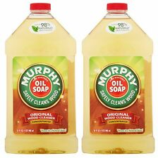 2 Murphy ORIGINAL WOOD CLEANER Concentrated Oil Soap Cleans Shine 32 oz