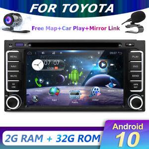 Godinsai Android 10 GPS Car Stereo for Toyota Corolla Hilux Radio Head unit DVD