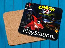 CRASH BANDICOOT 2 PLAYSTATION PSX POSAVASOS MADERA WOODEN COASTERS