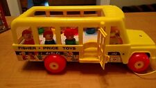 """Fisher Price's 1984 Little People """"School Bus #192"""" with 7 original students"""