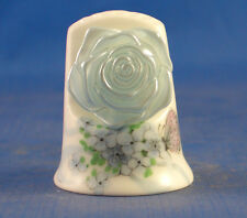 Birchcroft China Thimble ---- Cameo Blue Rose with Free Gift Box