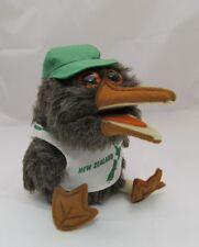 New Zealand Souvenir Plush Kiwi Bird ADORABLE w/ T-Shirt & Baseball Hat Big Eyes