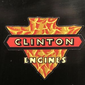 """Clinton Engine decal Early Style Knapped Arrowhead 3"""" With Engine Set 2"""