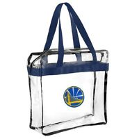 Golden State Warriors NBA Clear Zipper Tote Bag 2018 Stadium Approved