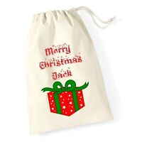 Personalised Merry Christmas Santa Sack Christmas Present Xmas Stocking
