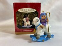 Hallmark Keepsake Ornament Playful Shepherd Boy on a Rocking Lamb 1997
