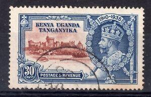 K.U.T. = 1935 Silver Jubilee 30c. Central Vignette O.O.P. by 4mm upwards. Used.