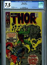 Thor # 142 CGC 7.5 VF- 1967  Marvel Comic Amricons  Super Skrull K24