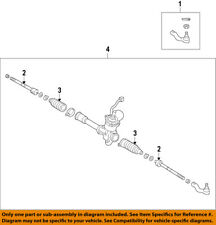 TOYOTA OEM 15-17 Yaris-Rack And Pinion Complete Unit 455000D280
