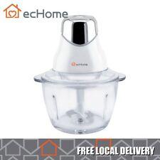 ecHome Multi-Function Mini Glass 1L Bowl Food Mix Chopper Processor Blender 320W