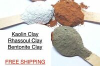 Kaolin Clay - Bentonite Indian Healing Clay - Moroccan Rhassoul Clay Face Mask