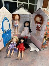 Vintage Madeline Doll House Carrying Case With Handle 5 Dolls Eden 1999 Lot