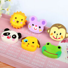 6PCS Cute Mini Animal Pencil Eraser Set Stationery Kids Children Gifts New