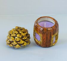 SCENTED CANDLE JAR HANDMADE LEMON & LAVENDER FRAGRANCE GLASS CRAFT HOME DECOR
