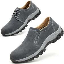 Mens Slip On Composite Toe Work Safety Shoes Walking Hiking Welding Boots Size