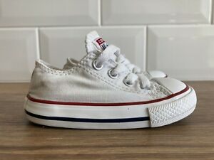 Excellent Condition Toddler White Converse Size 5