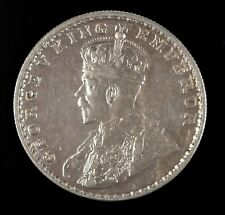 1918 George V India One Rupee Silver Coin Circulated
