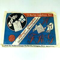 Joseph Walker Antique Vintage Transfer Pattern Color Stamp 1910 to 1930s PA282