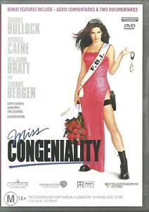 Miss Congeniality DVD  Sandra Bullock  Like New  Region 4 Free Postage