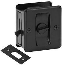 Matte Black Pocket Sliding Door Privacy Handle Lock Pull Hardware