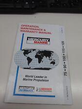 1998 Mercury Marine Operation, Maintenance and Warranty Manual for 75-90-115-125