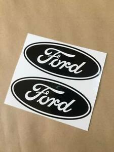 2X BLACK  Ford  Emblem Vinyl Decal Sticker for Truck Racing GT Mustang F150 F250