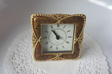 Decorative Quartz Clock With Faux Stone Embellishment