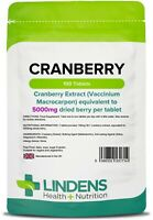 Lindens Cranberry Juice 5000mg 100 Tablets Bladder Cystitis Urinary Tract UK